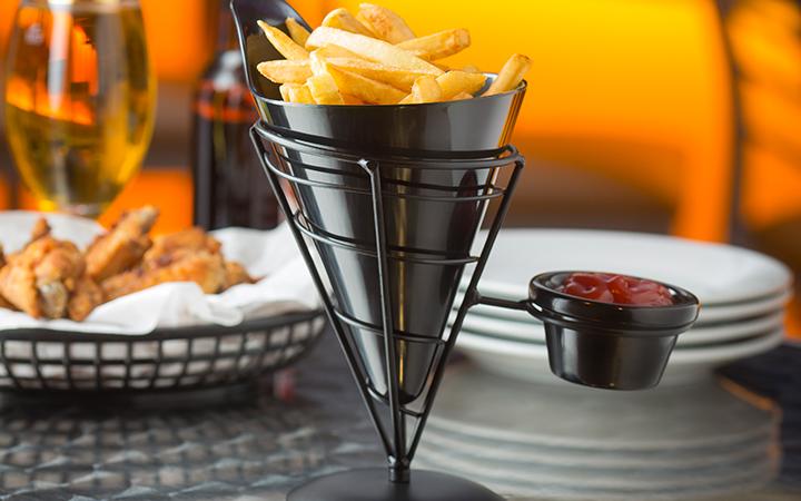"""TableCraft ACR57 Vertigo Collection 7"""" Black Appetizer Cone"""