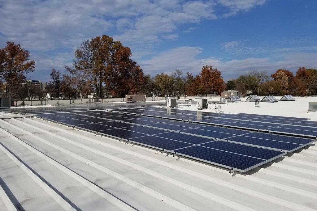 New solar panels show off Wasserstrom's new green initiatives.