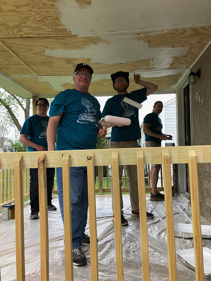 Getting the porch in shape