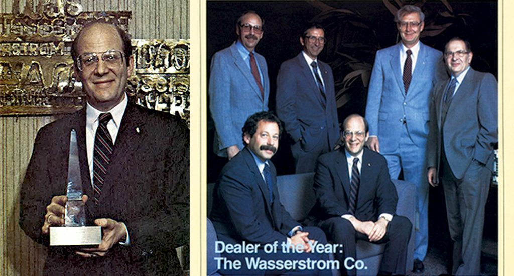 Wasserstrom wins first dealer of the year award 25 years ago