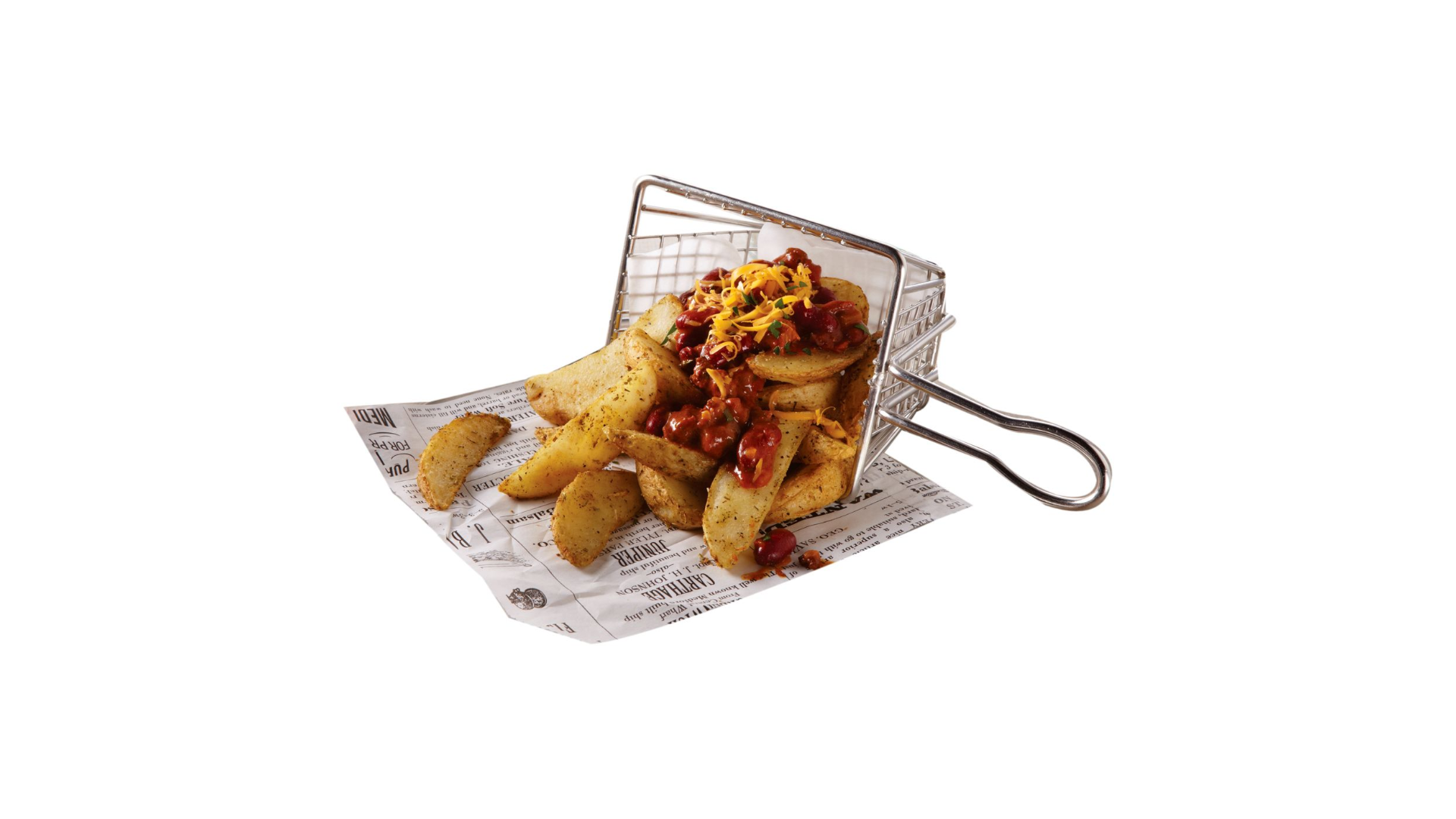 "American Metalcraft MFRYBSKT S/S 5"" Long Mini Fry Basket"
