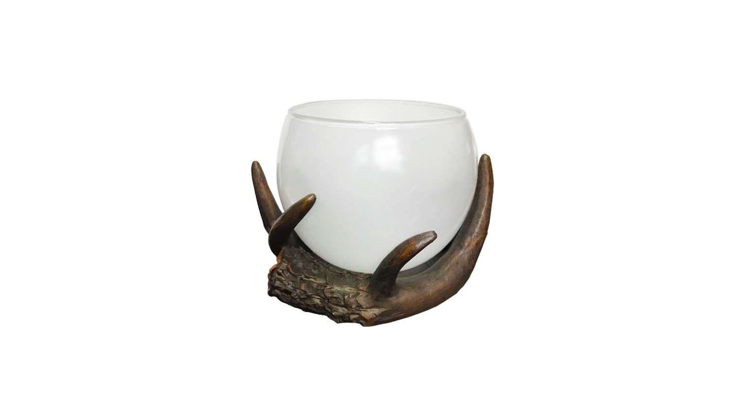The Amazing Flameless Candle 820242-02 Antler Candle Vase