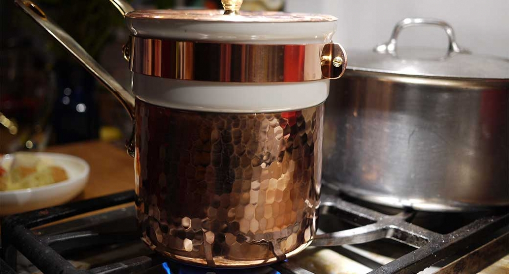 A fancy bain marie used for cooking delicate foods