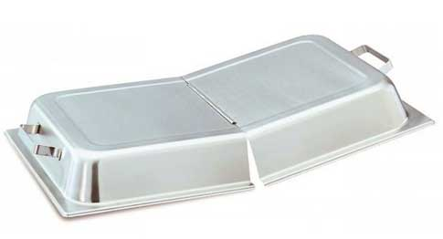 A hinged lid adds serving versatility to a standard pan.