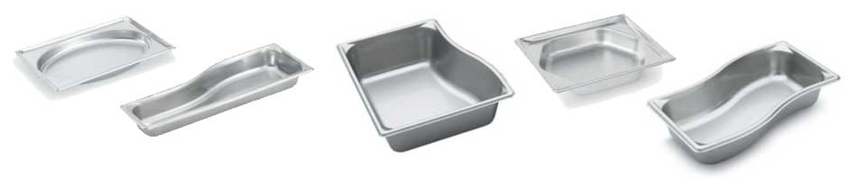 A variety of Vollrath Super Shape pans.