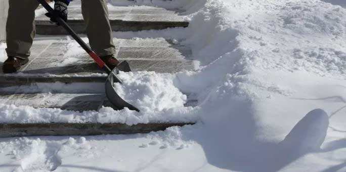 Don't wait to get a snow shovel and salt or ice melt.