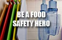 Be a food safety hero with our new restaurant inspiration guide