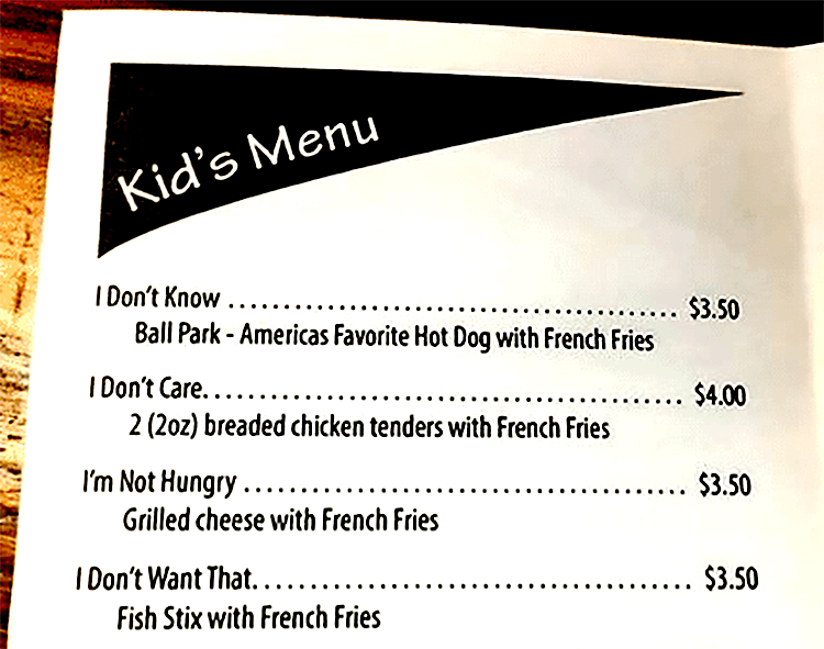 A clever kids menu can go a long way toward creating a good customer experience for children.