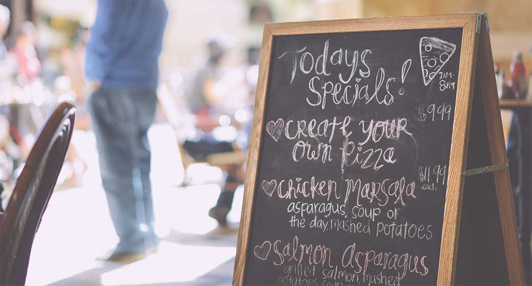 Menus that appear handwritten make customers believe that the food is healthier