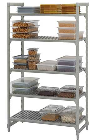 Good shelving is the centerpiece to any commercial kitchen organization effort. Explore all your choices here.