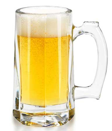You don't want to run out of clean glassware so stock up in advance. Shown: Classic Beer Stein from Libbey.