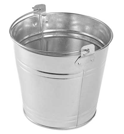 The perfect way to serve bottled beverages in bulk. Shown: Natural Finish Galvanized Pail from American Metalcraft.