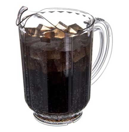 Pitchers are a great way to increase your sales during the tournament. Shown: Versapour ® 60oz Pitcher from Carlisle.