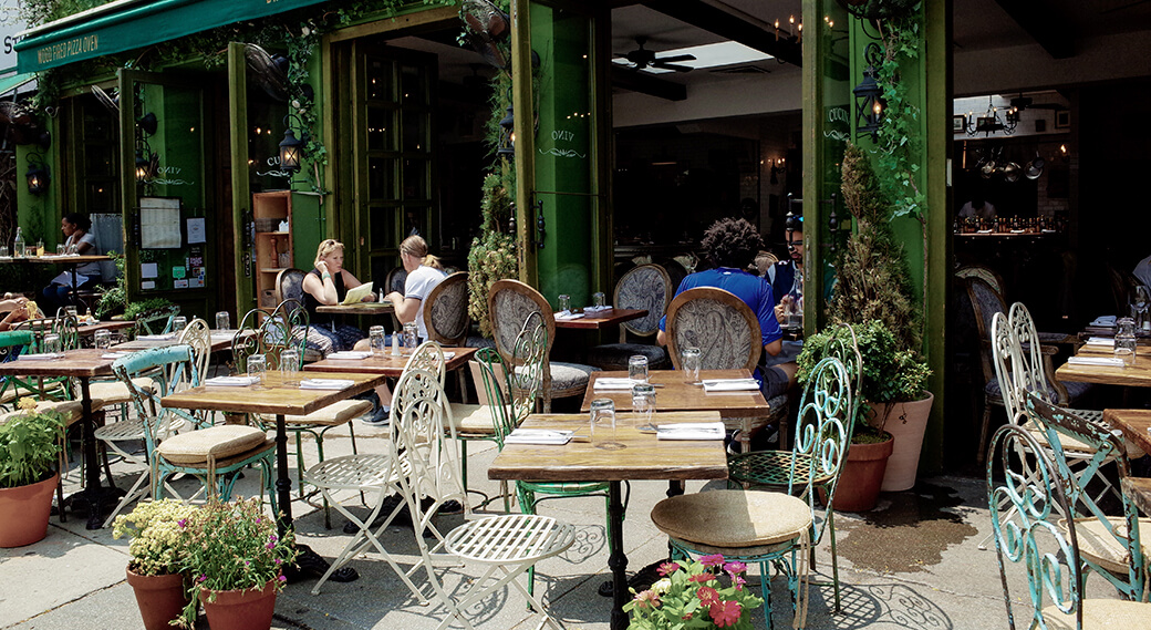 commercial outdoor dining