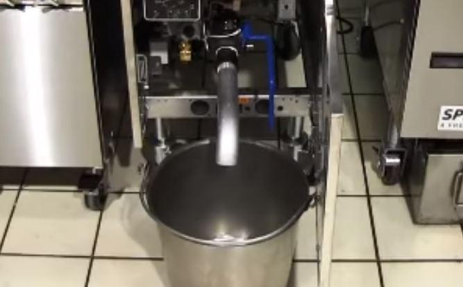 commercial fryer drain tube
