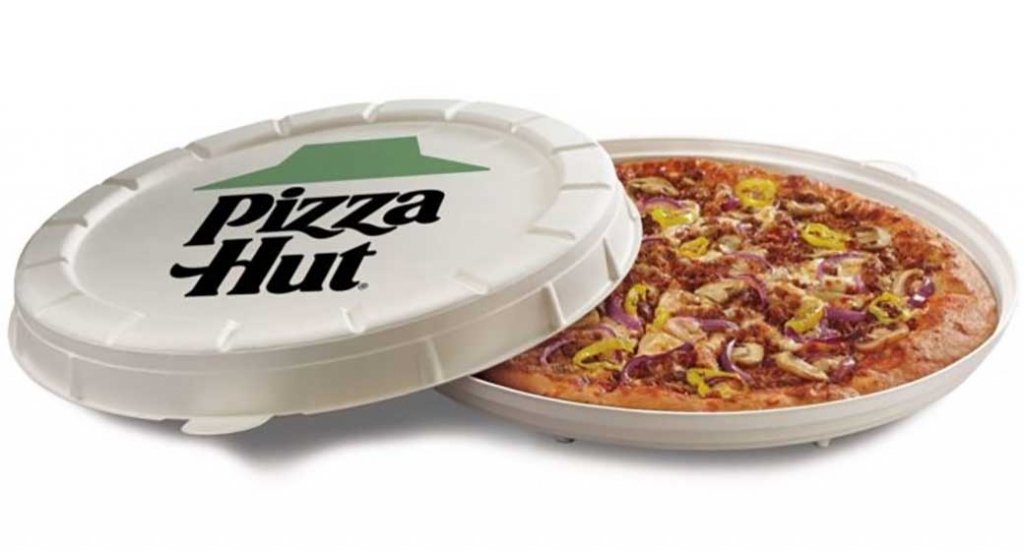 Pizza Hut experiments with round box design