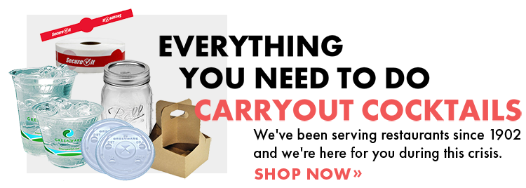 SHOP NOW for all your Cocktail Carryout Supplies