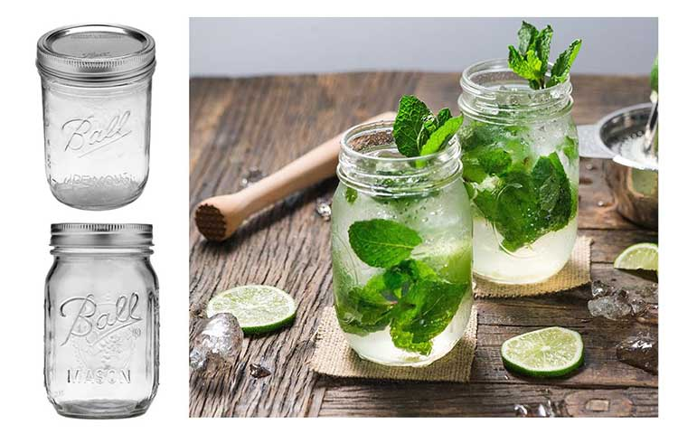 Mason jars can be a good option for non-disposable containers that are both safe and compliant.