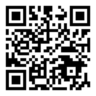 A sample QR code. Your code will be unique for your online menu.