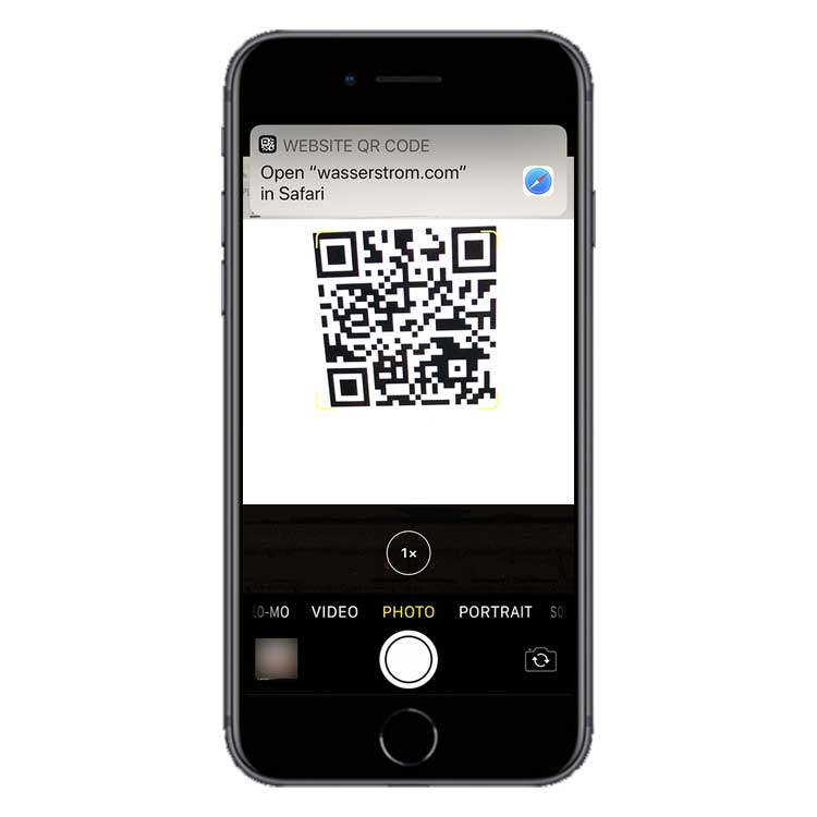 Use your phone's camera to capture the QR code and click the link to visit the webpage.