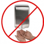 Touchless Electric Air Hand Dryers are probably not great right now.