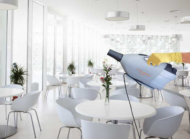 A deep cleaning might include new tools such as a fogger to disinfect hard-to-reach surfaces.