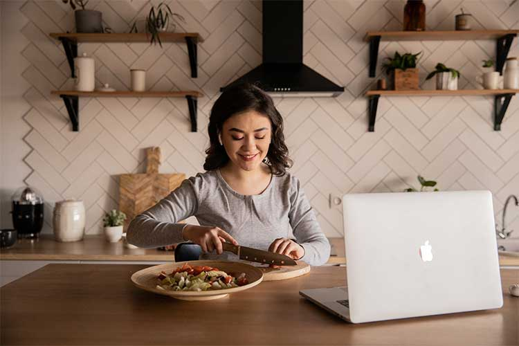 Offering online cooking classes can be a great revenue stream.