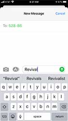 Text the word Revival to 52886 on your cellphone