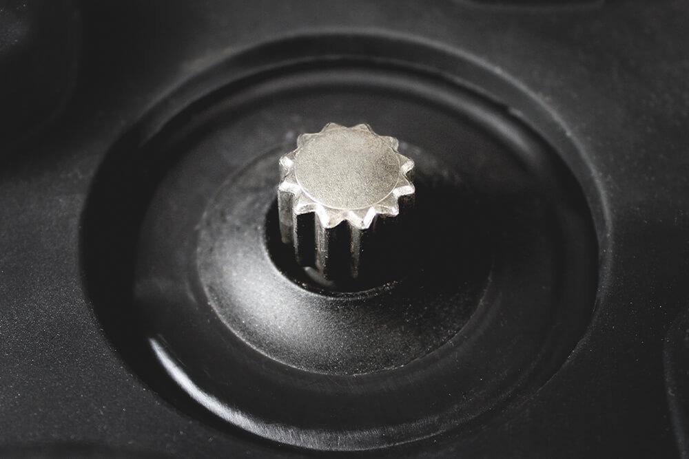 Metal-drive coupling.