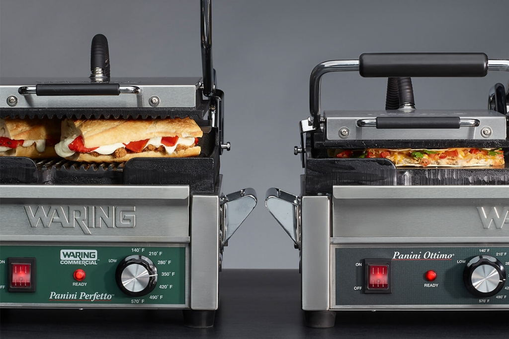 Waring commercial panini grills.