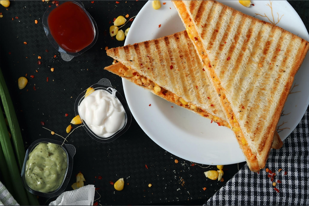 Creative panini sandwich.