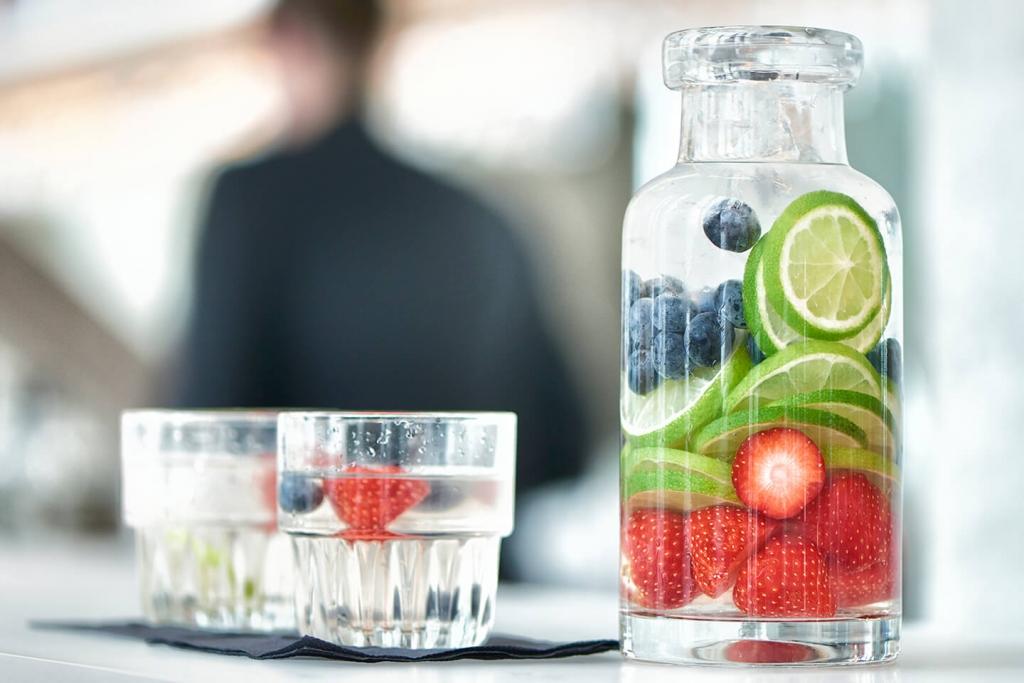 Helio water bottle from Libbey