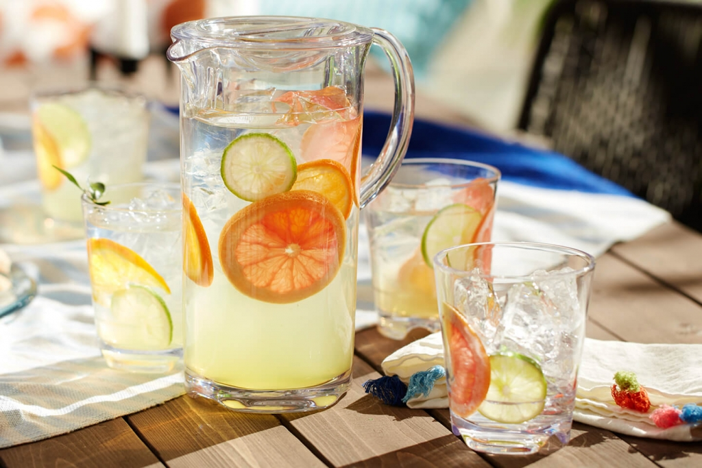 Libbey's 55 ounce Infinium pitcher is virtually unbreakable.
