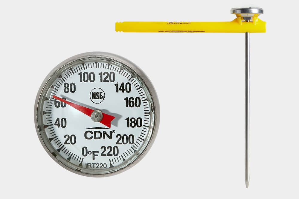 Bimetal commercial kitchen thermometer IRT220 by CDN.
