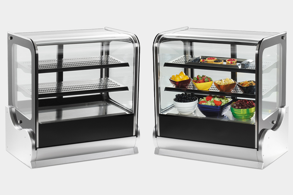Display cases for bakery products by Vollrath.
