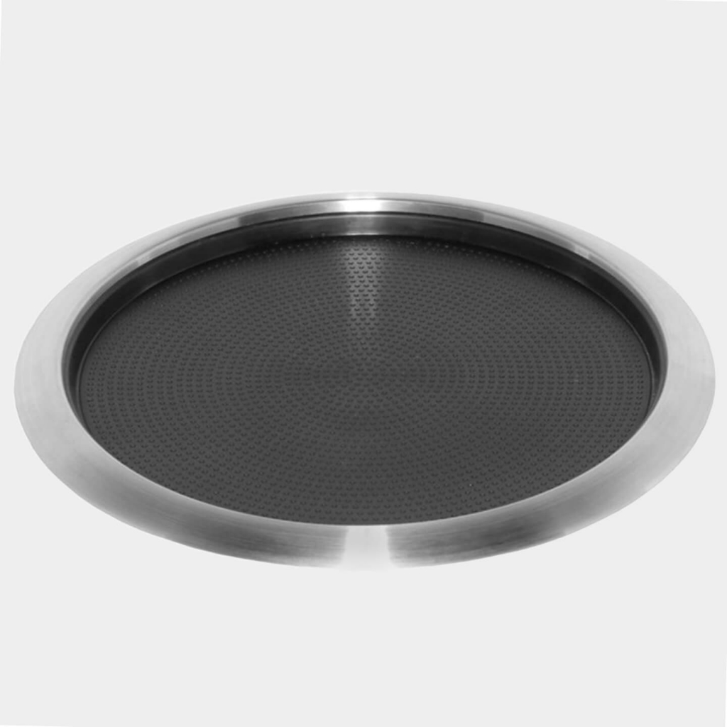Service Ideas Stainless Steel Non-Slip Tray with Removable Insert