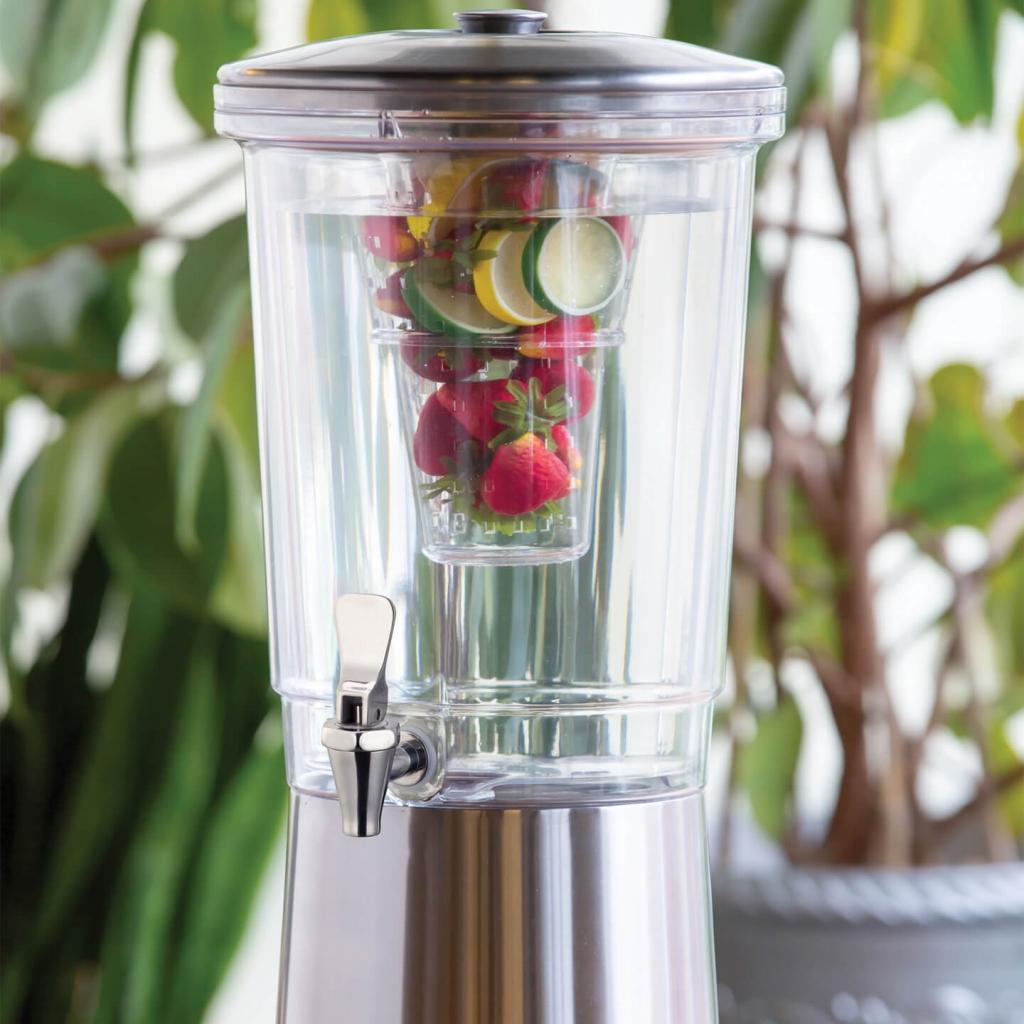 Service Ideas CBDDW3GSS S/S 3 Gallon Infusion Beverage Dispenser