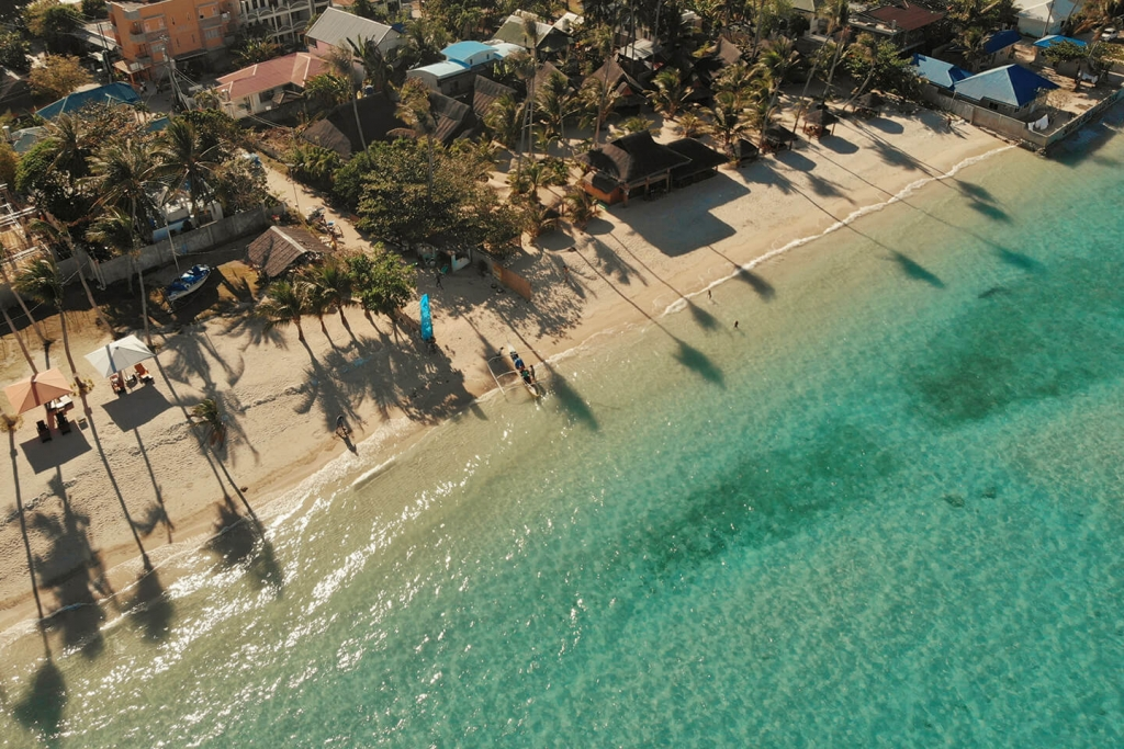 A tropical paradise in the Philippines.