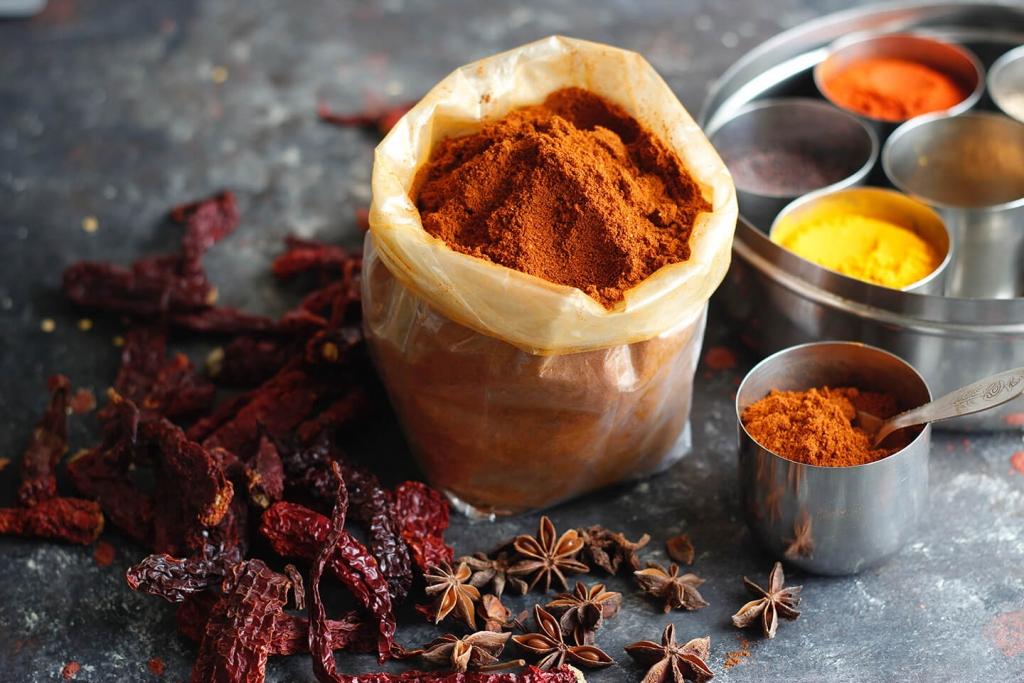 Garam masala ingredients.