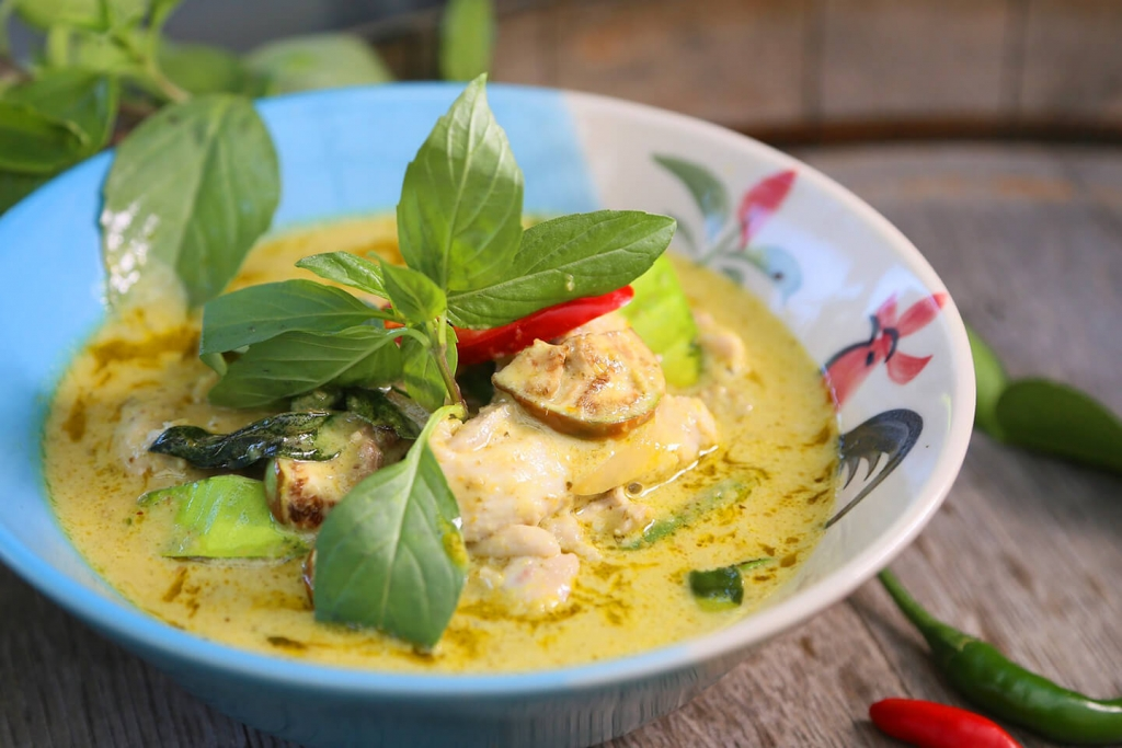 Thai green curry. The name was invented for tourism.