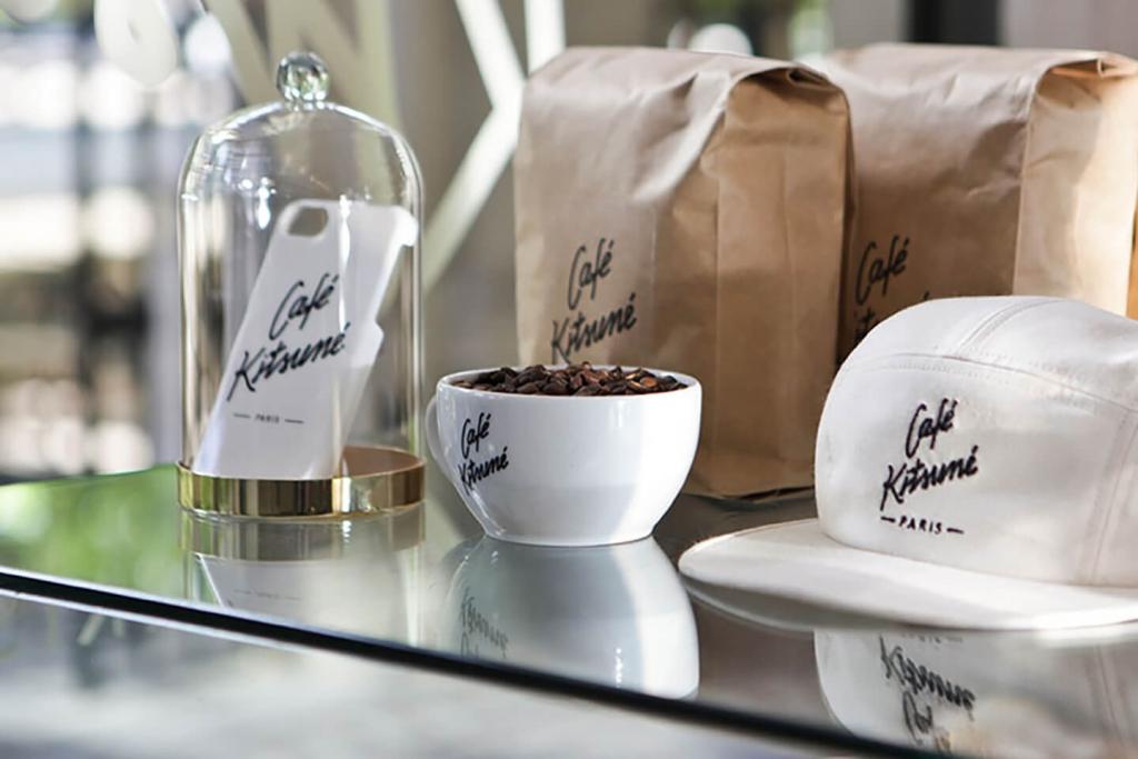Products at Maison Kitsune's Cafe Kitsune.