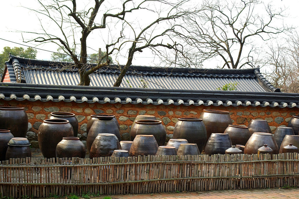 Traditional vessels.
