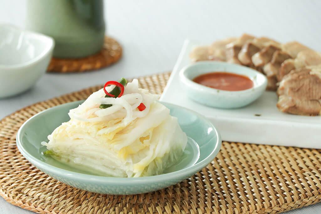 White kimchi.